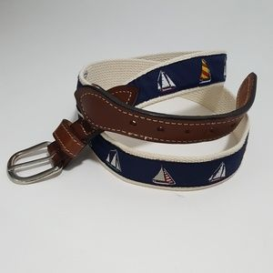 Other - Embroidered Nylon Canvas SAILBOATS Fishing Belt 40